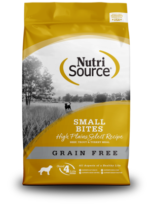 NutriSource Grain Free Dog Food Small Bites High Plains Select