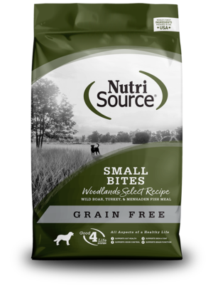 NutriSource Grain Free Dog Food Small Bites Woodlands Select