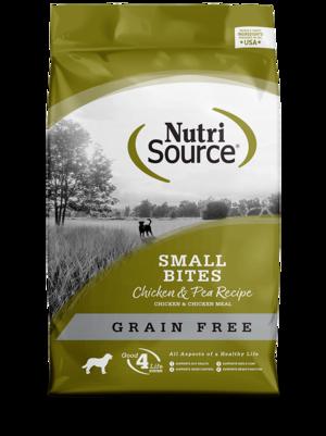 NutriSource Grain Free Dog Food Small Breed Chicken & Pea Formula