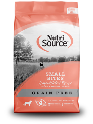 NutriSource Grain Free Dog Food Small Breed Seafood Select