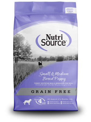 NutriSource Grain Free Dog Food Small & Medium Breed Puppy