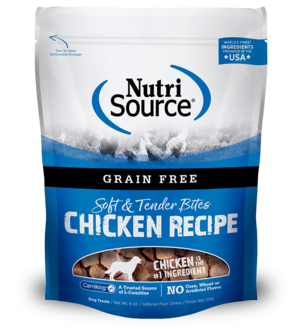 NutriSource Grain Free Dog Treats Chicken Bites