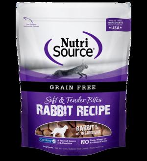 NutriSource Grain Free Dog Treats Rabbit Bites