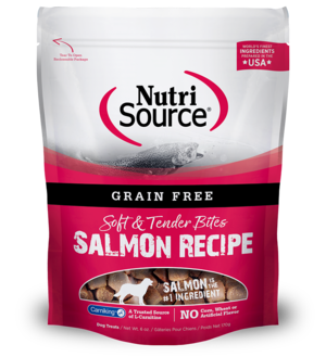 NutriSource Grain Free Dog Treats Salmon Bites