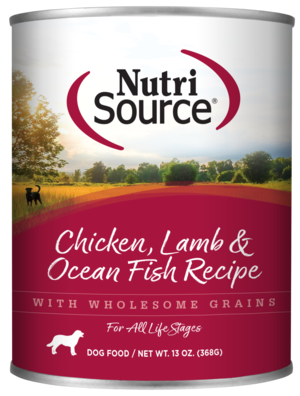NutriSource Wet Dog Food Chicken, Lamb & Ocean Fish Formula