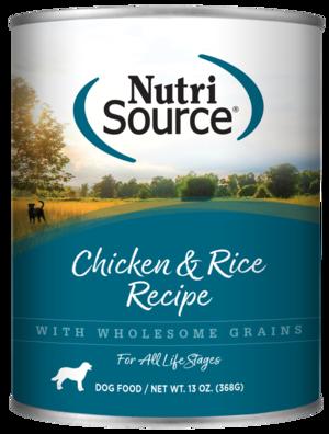 NutriSource Wet Dog Food Chicken & Rice Formula