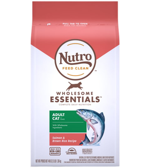 Nutro Wholesome Essentials Salmon & Brown Rice Recipe For Adult Cats