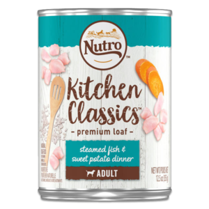 Nutro Kitchen Classics Premium Loaf Steamed Fish & Sweet Potato Dinner For Adult Dogs