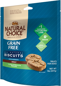 Nutro Natural Choice Grain Free Biscuits Lamb & Potato Recipe For Adult Dogs