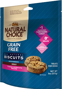 Nutro Natural Choice Grain Free Biscuits Turkey & Potato Recipe For Adult Dogs