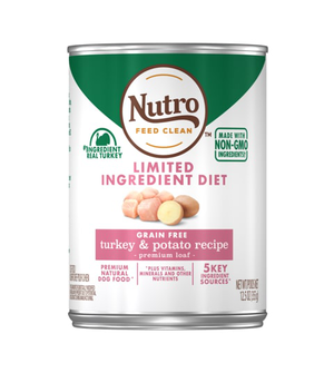 Nutro Limited Ingredient Diet Turkey & Potato Recipe Premium Loaf For Adult Dogs
