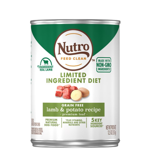 Nutro Limited Ingredient Diet Lamb & Potato Recipe Premium Loaf For Adult Dogs