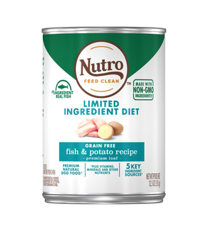 Nutro Limited Ingredient Diet Fish & Potato Recipe Premium Loaf For Adult Dogs