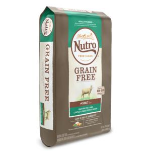 Nutro Grain Free Pasture-Fed Lamb, Lentils & Sweet Potato Recipe For Adult Dogs