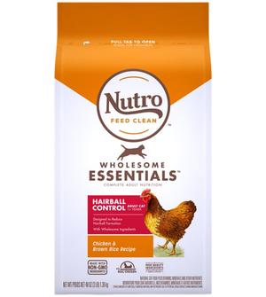 Nutro Wholesome Essentials Farm-Raised Chicken & Brown Rice Recipe For Hairball Control