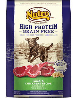 Nutro High Protein-Grain Free Adult Dog Food Lamb and ...