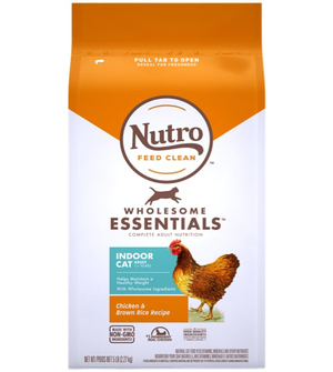 Nutro Wholesome Essentials Farm-Raised Chicken & Brown Rice Recipe For Indoor Adult Cats