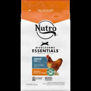 Nutro Wholesome Essentials Farm-Raised Chicken & Brown Rice Recipe For Indoor Senior Cats