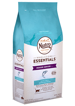 Nutro Wholesome Essentials White Fish & Brown Rice Recipe For Indoor Senior Cats