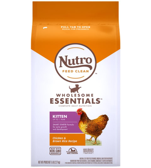 Nutro Wholesome Essentials Farm-Raised Chicken & Brown Rice Recipe For Kittens