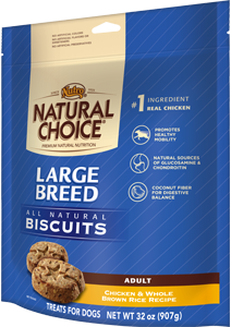 Nutro Natural Choice Large Breed Biscuits Chicken & Whole Brown Rice Recipe For Adult Dogs