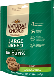 Nutro Natural Choice Large Breed Biscuits Lamb & Whole Brown Rice Recipe For Adult Dogs