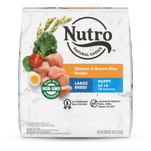 Nutro Wholesome Essentials Farm-Raised Chicken, Brown Rice & Sweet Potato Recipe For Large Breed Puppies