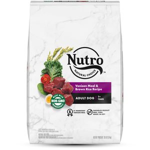 Nutro Wholesome Essentials Venison Meal, Brown Rice & Oatmeal Recipe For Adult Dogs