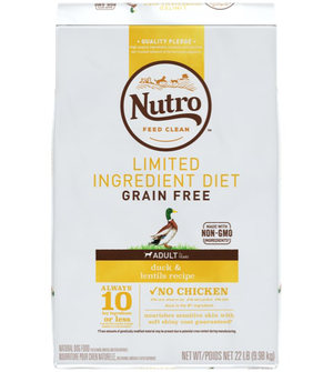 Nutro Limited Ingredient Diet Duck & Lentils Recipe For Adult Dogs