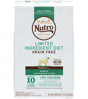 Nutro Limited Ingredient Diet Lamb & Sweet Potato Recipe For Adult Dogs