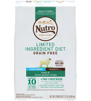 Nutro Limited Ingredient Diet Lamb & Sweet Potato Recipe For Large Breed Adult Dogs