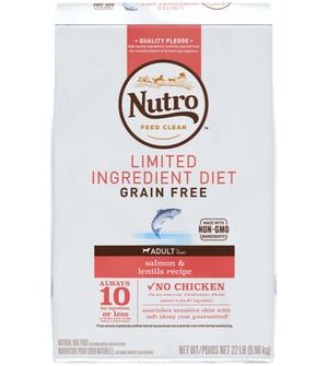 Nutro Limited Ingredient Diet Salmon & Lentils Recipe For Adult Dogs