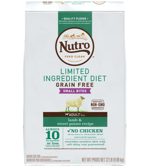 Nutro Limited Ingredient Diet Small Bites Lamb & Sweet Potato Recipe For Adult Dogs