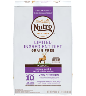 Nutro Limited Ingredient Diet Venison Meal & Sweet Potato Recipe For Adult Dogs