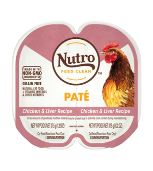 Nutro Perfect Portions Grain Free Pate Real Chicken & Liver Recipe For Adult Cats
