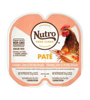Nutro Perfect Portions Grain Free Pate Real Chicken, Liver & Shrimp Recipe For Adult Cats