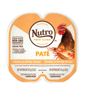 Nutro Perfect Portions Soft Loaf Chicken & Shrimp Recipe For Adult Cats