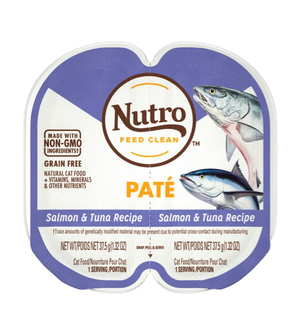 Nutro Perfect Portions Grain Free Pate Real Salmon & Tuna Recipe For Adult Cats