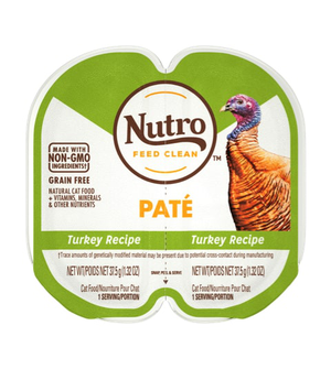 Nutro Perfect Portions Grain Free Pate Real Turkey Recipe For Adult Cats