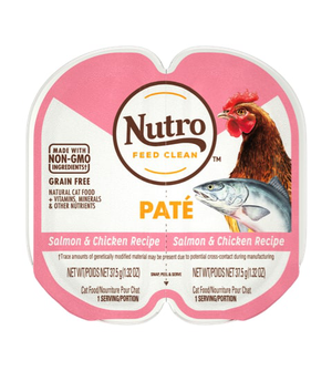 Nutro Perfect Portions Grain Free Pate Real Salmon & Chicken Recipe For Adult Cats