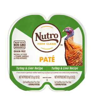 Nutro Perfect Portions Soft Loaf Turkey & Liver Recipe For Adult Cats
