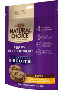 Nutro Natural Choice Puppy Development Biscuits Chicken & Whole Brown Rice Recipe For Puppies