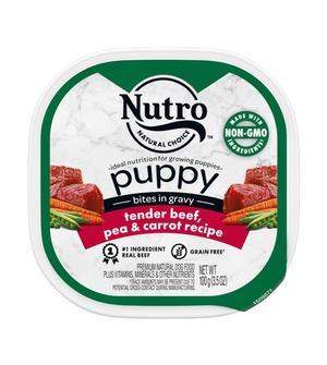 Nutro Puppy Bites In Gravy Tender Beef & Vegetable Recipe