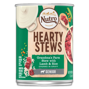 Nutro Hearty Stews Grandma's Farm Stew With Lamb & Rice For Senior Dogs