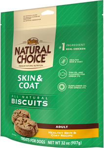 Nutro Natural Choice Skin & Coat Biscuits Healthy Skin & Coat Recipe For Adult Dogs