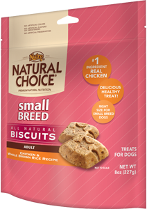 Nutro Natural Choice Small Breed Biscuits Chicken & Whole Brown Rice Recipe For Adult Dogs