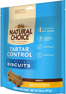 Nutro Natural Choice Tartar Control Chicken & Whole Brown Rice Recipe For Adult Dogs