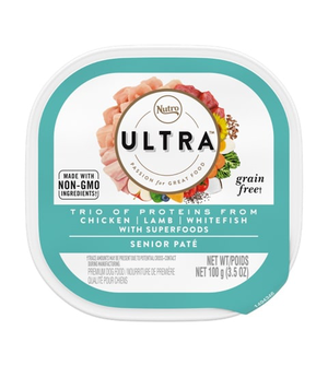 Nutro Ultra Pate Chicken, Lamb & Salmon Entree For Senior Dogs