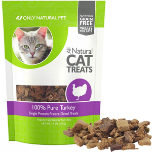 Only Natural Pet All Natural Cat Treats 100% Pure Turkey
