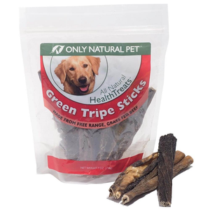 Only Natural Pet All Natural Health Treats Green Tripe Sticks